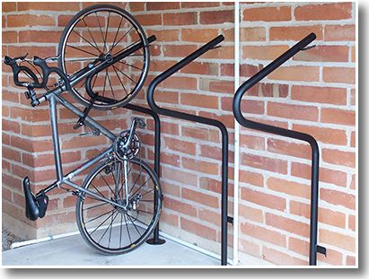 Floor Mount Stand Up Commercial Bike Racks Bike